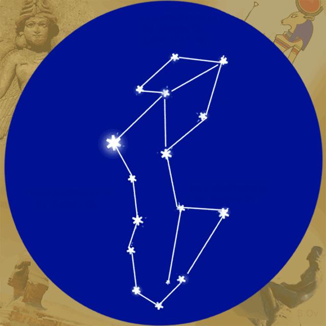 Созвездие Дева. Схема. Автор диаграммы Sergey Ov (Seosnews9)