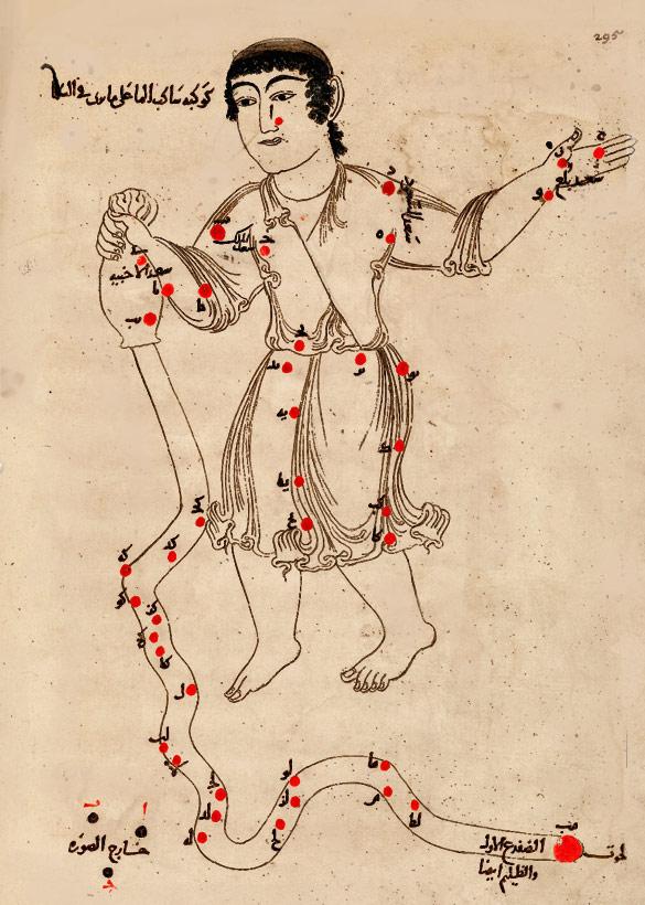 Созвездие Водолей. Иллюстрация из «Книги неподвижных звезд» ас Суфи