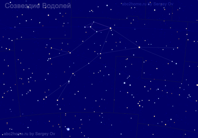 Созвездие Водолей, звезды созвездия Водолея