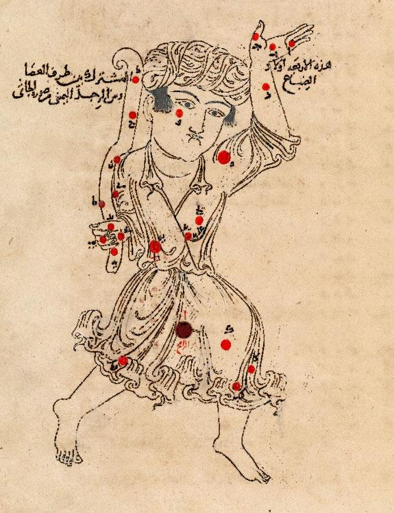 Созвездие Волопас. Иллюстрация из «Книги неподвижных звезд» ас Суфи